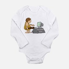 Caveman Long Sleeve Infant Bodysuit