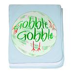 Gobble Gobble baby blanket