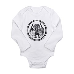 Surrounded! Long Sleeve Infant Bodysuit