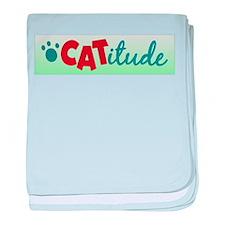Catitude baby blanket