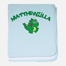 Matthewzilla baby blanket