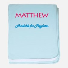 Matthew - Available for Playd baby blanket