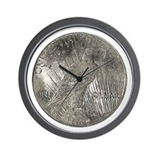 Peace Dollar Reverse Wall Clock