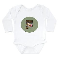 Water Lilies Triple Long Sleeve Infant Bodysuit
