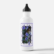 Blue Violets Water Bottle