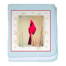 Cardinal baby blanket