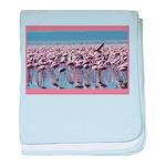 Flamingoes baby blanket