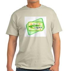 Go Vegan Ash Grey T-Shirt
