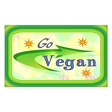Go Vegan Rectangle Decal