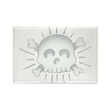 Sailor Jerry Skull Rectangle Magnet