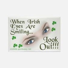 When Irish Eyes Are Smiling Rectangle Magnet