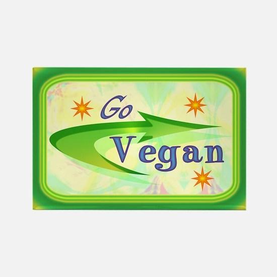 Go Vegan Rectangle Magnet