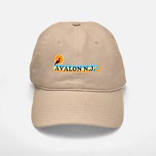 Avalon NJ - Beach Design Baseball Baseball Cap
