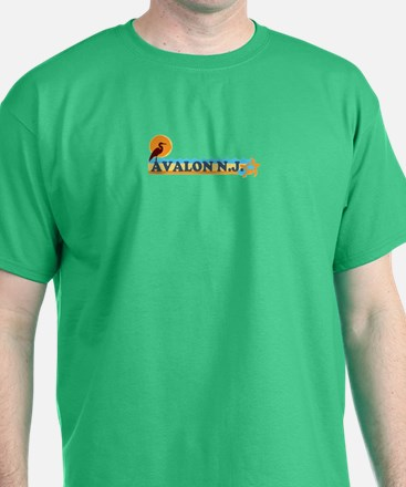 Avalon NJ - Beach Design T-Shirt
