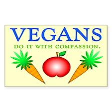 Vegans Do It... Rectangle Decal