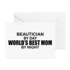 World's Best Mom - Beautician Greeting Cards (Pk o