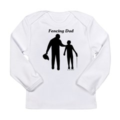 Fencing Dad Long Sleeve Infant T-Shirt