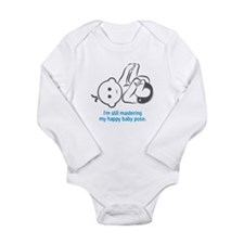Yoga Happy Baby - Long Sleeve Bodysuit (Blue)