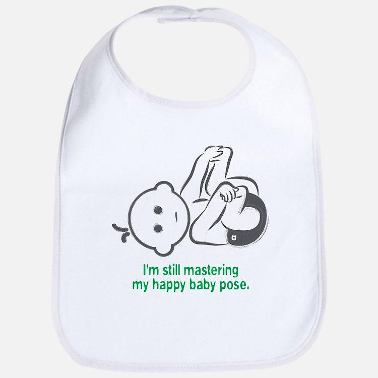 Yoga Happy Baby - Bib (Green)