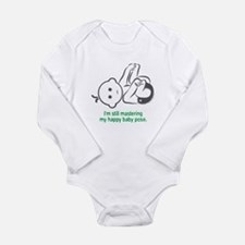 Yoga Happy Baby - Long Sleeve Bodysuit (Green)