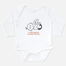 Yoga Happy Baby - Long Sleeve Bodysuit (Orange)