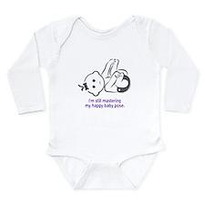 Yoga Happy Baby - Long Sleeve Bodysuit (Purple)