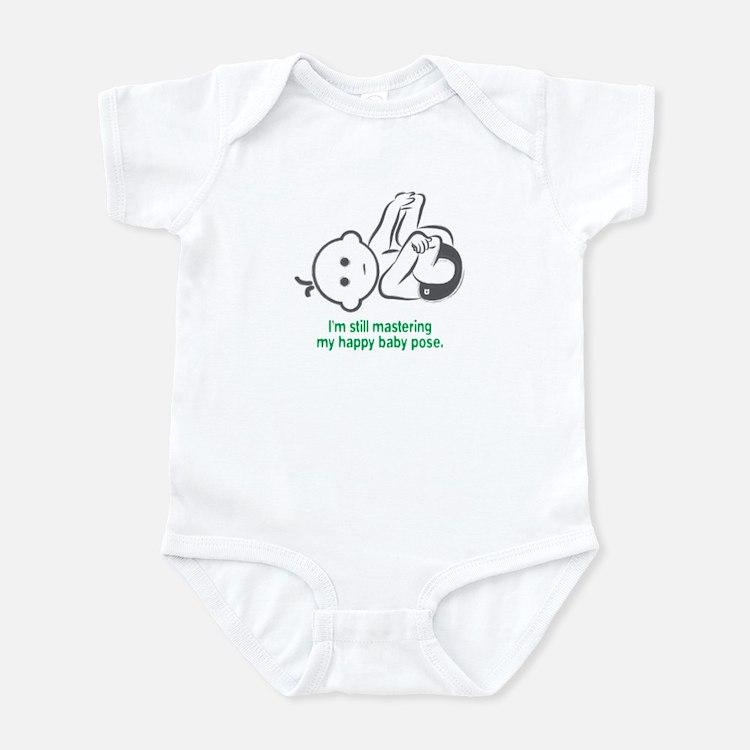 Yoga Happy Baby - Infant Bodysuit (Green)