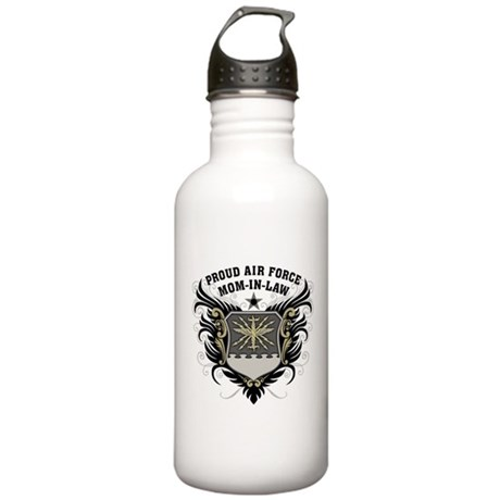 Proud Air Force Mom-in-law Stainless Water Bottle