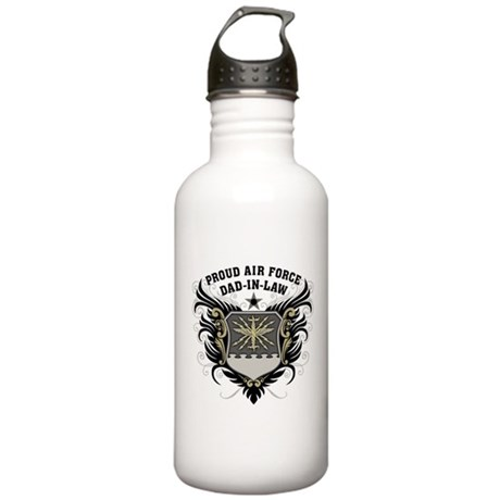 Proud Air Force Dad-in-law Stainless Water Bottle