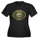 Perris Police Women's Plus Size V-Neck Dark T-Shir