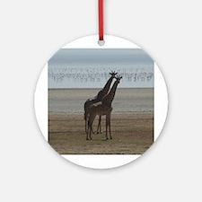 African Giraffes Ornament (Round)