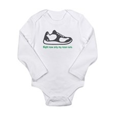 Running Nose - Long Sleeve Bodysuit (Green)