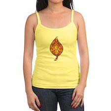 """Gold Leaf """"Leaf"""" Jr.Spaghetti Strap"""