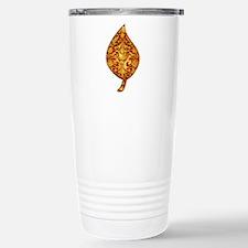 "Gold Leaf ""Leaf"" Stainless Steel Travel Mug"