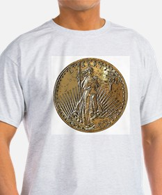 St Gaudens Double-Sided Ash Grey T-Shirt