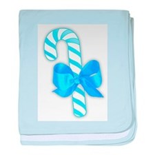 Blue Candy Cane baby blanket