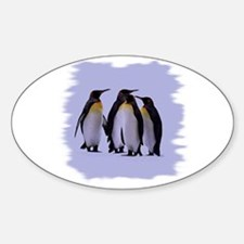 Penguins Sticker (Oval)