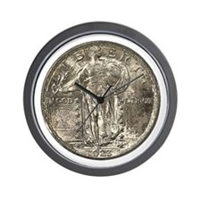 Standing Liberty Obverse Wall Clock
