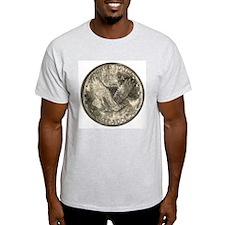 Standing Liberty Reverse Ash Grey T-Shirt
