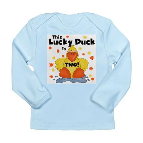 Lucky Duck 2nd Birthday Long Sleeve Infant T-Shirt