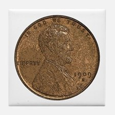Lincoln Wheat Obverse Tile Coaster