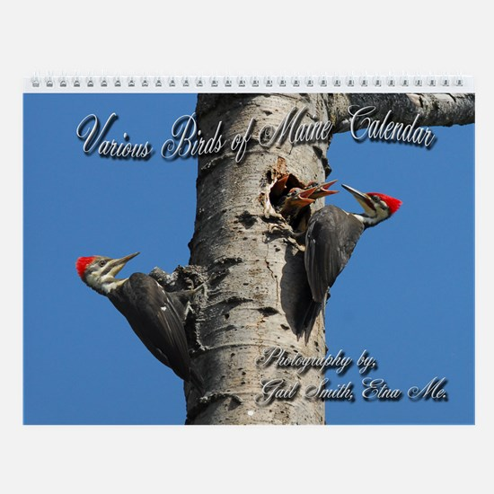 Various birds of Maine Wall Calendar