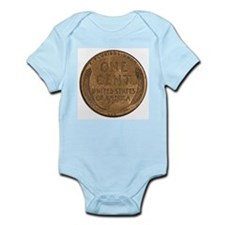 Lincoln Wheat Reverse Infant Creeper