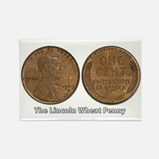 Lincoln Wheat Double-Sided Rectangle Magnet
