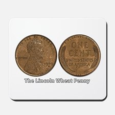 Lincoln Wheat Double-Sided Mousepad