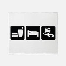 Eat Sleep Drift Throw Blanket