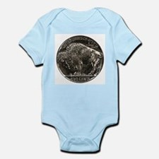 Buffalo Nickel Reverse Infant Creeper
