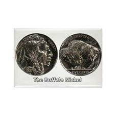 Buffalo Nickel Double-Sided Rectangle Magnet