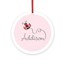 Ladybug Addison Ornament (Round)
