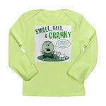 Short, Bald... Long Sleeve Infant T-Shirt (green)